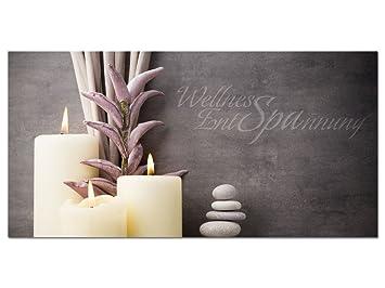 Acrylglasbild Wandbild Acrylglas Für Badezimmer Spruch Wellness Entspannung  (100x50cm)
