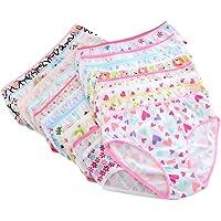 Brightup 6 Pack Biancheria Intima di Cotone per Ragazze Bambini Mutande Slip Breve Mutande 0-12 Anni Bambini Mutandine