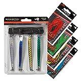 Kinetic TheBigFish Hornhecht Set - 4X Blinker + 10x Seidenfäden
