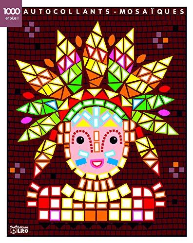 Mes petits tableaux en autocollants mosaïques brillants - l'indien - de 3 à 5 ans