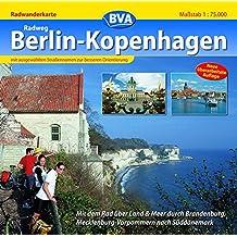 Quadrat-Spiralo BVA Radweg Berlin-Kopenhagen Mit dem Rad über Land & Meer durch Brandenburg, Mecklenburg-Vorpommern nach Süddänemark Radwanderkarte 1:75.000