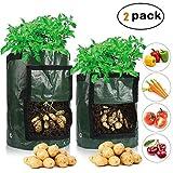 3pcs Sacos para Plantas con Ventana Bolsa para Plantar con Ventana para Cultivar hortalizas: Patata Zanahoria y Cebolla 3035cm jard/ín Crecer de Patata Bolsa