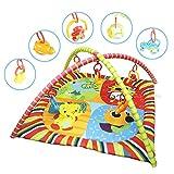 Forever Speed Palestrina Tappetino per Neonato Educativa Multifunzionale Palestrina Gioco Palestrina Per Bambini Tappetini ,Tema animale
