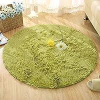 Zhuhaimei,Runde Teppich einfach solide mehrzweck - Matte(Color:grüne,Size:80X80CM)