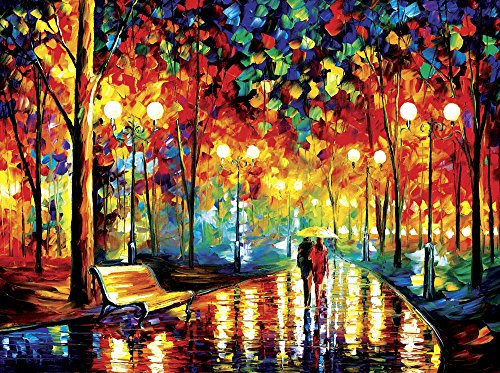 Faim Paintings Canvas Print Of Landscape Art Night In The Garden - Frameless, 33x24 Inch
