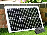 20W 12V Solar Panel with 10A Charge Controller - for 12V Battery, Motorhome, Camping, Boat, Shed