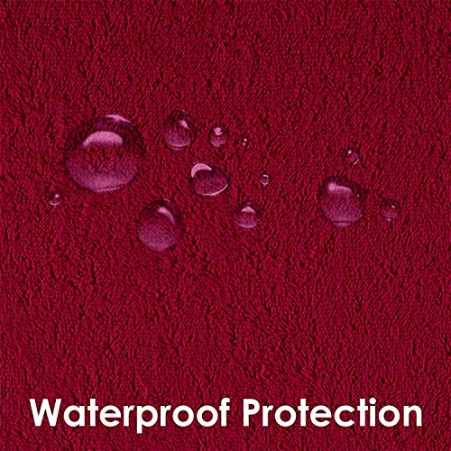 """Dream Care Waterproof Dustproof Terrycloth Cotton Mattress Protector for Queen Size Bed (Maroon, 78"""" x 60"""") Image 5"""