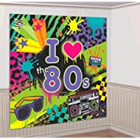 Amscan - 80s Kit decorativo - 1,65 x 82,5 cm
