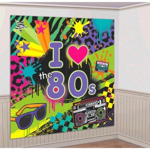 80er Jahre Totally 80's Raum-Dekoration