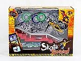 AumoToo Skatepark Rampen, Mini Finger Fahrrad Skateboard Spielset Fingerboard Skate Park Kit mit Fahrrädern Ultimate Sport Training Requisiten Spielzeug Weihnachtsgeschenk für Kinder (C)