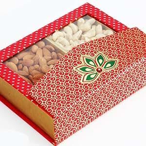 Ghasitaram Gifts Dry Fruit - Pink Designer Dry Fruit Box (Multicolour,Rectangle)