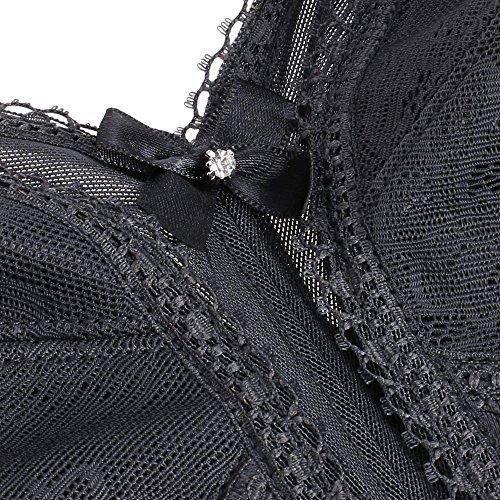 Ekouaer Soutien-Gorge Non-Rembourré Sans Armature Minimiseur Grande Taille 95D-115H Gris