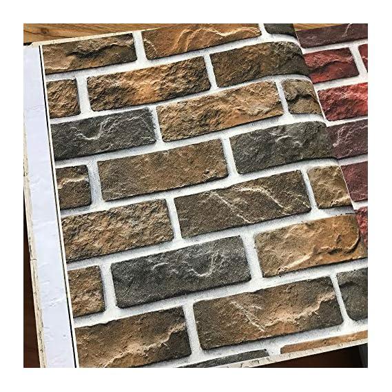 Eurotex Textured PVC coated 3D Bricks Design wallpaper for walls home decoration 57SQFT- 231602