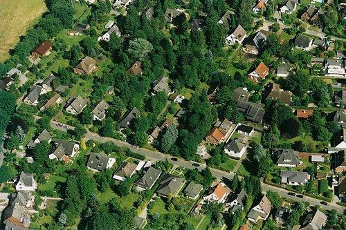 MF Matthias Friedel - Luftbildfotografie Luftbild von Wüsthofweg in Hamburg (Hamburg), aufgenommen am 27.07.02 um 16:12 Uhr, Bildnummer: 2157-05, Auflösung: 3000x2000px = 6MP - Fotoabzug 50x75cm