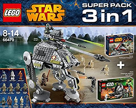 LEGO Star Wars - 66479 Value Pack 3 in 1 (75015 Corporate Alliance Tank Droid + 75035 Kashyyyk Troopers + 75043