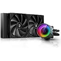 DEEPCOOL Castle 280EX Addressable RGB LED Liquid CPU Cooler with Anti-Leak Tech - DP-GS-H14AR-CSL280EX
