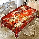 hhlwl Tischdecke Home Party Dekoration Tischdecke 3D Weihnachten Schnee Rechteck Einfach Tischdecke Abwischen, 80 X 150 cm