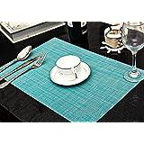 Sets de Table (Lot de 6), Soriace® Sets de Table Vinyle Antidérapant, Set Table Napperons / Tapis de Table Taille 45 x 30, bleu