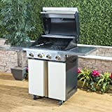 Fire Mountain K2 4 Burner Gas Barbecue in Cream