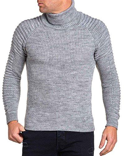 BLZ jeans - Pullover homme gris col roulé Gris