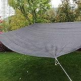 Sonnensegel Sonnenschirme Pavillons Markisen Sonnenschutz Shade Netzplane Kantenschliff Verschlüsselung Shading Gardening Lieferungen (Color : Black, Size : 4 * 6 m/157 * 236 inch)