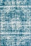 LIFA LIVING Vintage Teppich | im schönen Vintage Muster | für Wohnzimmer und Schlafzimmer | Farb und Größen Variationen | (Hellblau, 160 x 230 cm)