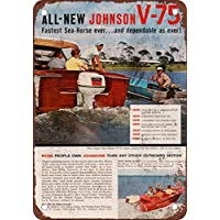 1960 Johnson sea-horse v-75 motori fuoribordo vintage look Reproduction