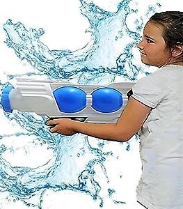 Allkindathings - Pistola de Agua para niños, Grande, Estilo súper Espacial, Juguete Divertido para niños