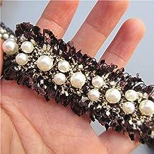 90 cm de cinta algodon pasamaneria negra perlada para vestidos complementos manualidades costura canastillas vestiditos scrapbooking