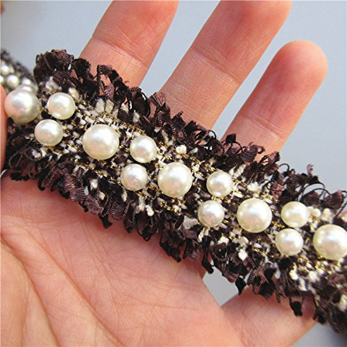 90 cm de cinta algodon pasamaneria negra perlada para vestidos complementos manualidades costura canastillas vestiditos scrapbooking patchwork de OPEN BUY