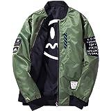 GladiolusA Men's Slim Fit Bomber Jacket Lightweight Sportswear Jackets Casual Coats