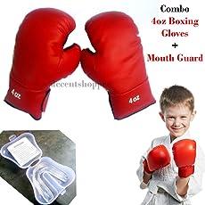 Unik Kids Koxing Combo - Premium Quality Boxing Glove for Kids, 4 oz + Mouth Guard