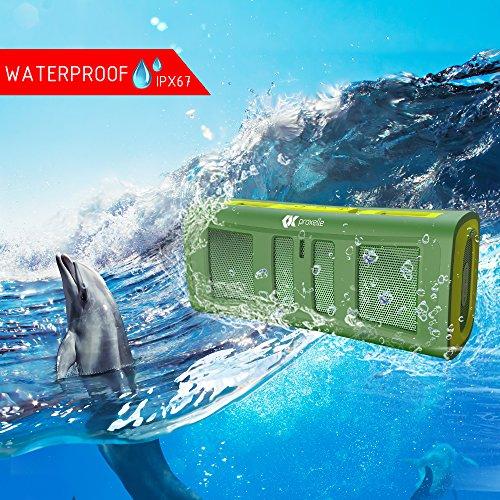 Altavoces Estéreo Bluetooth resistente al agua   Excelente para ducha  hogar y al aire libre   Mini  portátil  resistente  a prueba de golpes y/o arena   Transmisión inalámbrica de música desde cualquier lugar. (Verde)