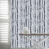 Arthouse Imagine Glitzer Tapete mit Waldmotiv Birke Baum Silberfarben