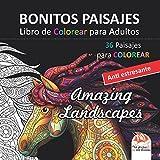 BONITOS PAISAJES - Libro de Colorear para Adultos: 36 Bonitos Paisajes para COLOREAR - Anti estresante
