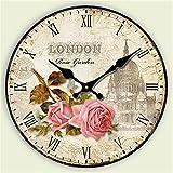 Beloved clock Wanduhr Modern Neu Für Jeden Raum präzise Restaurant Wohnzimmer Uhr Kreative Halterung Uhr Silent, 40cm Quarzuhr