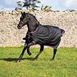 Horseware Amigo Turnout Hero 6 Lite Black with Purple & Mint Weidedecke 115-160 (160)