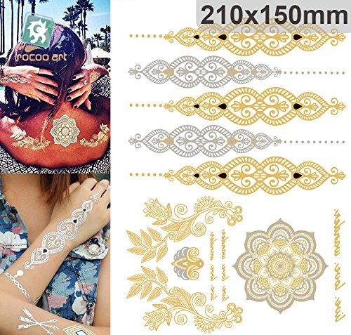 golden-metallic-gold-stickers-de-tatouage-temporaire-pour-lart-corporel-formes-dores-3-temporary-tat