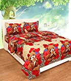 #3: Ab Home Decor King Size 3 Pc Bedding Set - 1100 Series Hypoallergenic Wrinkle Free Bed Linens Exclusive Cartoon Print Double Bedsheet |Includes 2 King Size Pillows Covers||1 Flat Bed Sheet 90x100 Inch (Indian Quality Collection)-Multi-Color