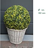 40 cm, künstliche Buchsbaumkugel, sehr natürlich wirkend