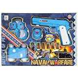 #7: Planet of Toys Navy Officer Equipment Suit Pretend Play Game Set with 11 Accessories for Kids/Children