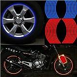 SKS Distribution® 16 Stk. rote Felgenbänder, Radsticker und Aufkleber, 45,7 cm, reflektierendes Felgenband für Fahrrad, Motorrad, Auto