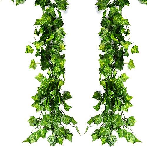 ATPWONZ 12 pcs Ivy Vine Garland Falso Artificial Colgante De La Planta...