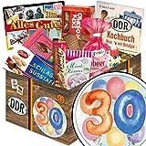 30. Geburtstag | DDR Geschenkkorb | DDR Suessigkeiten-Box mit Puffreis-Schokolade, Liebesperlenfläschchen, Othello Keks Wikana uvm.