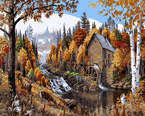 Save 48 Golden Maple Diy Pre Printed Canvas Oil Painting