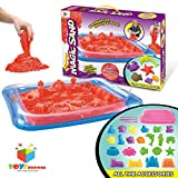 Toys Bhoomi 2KG Magic Sand Activity Playset with Inflatable Sandbox & Molds - 100% Safe Gluten-Free