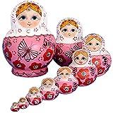 YAKELUS, marca profesional de Matrioska, Matrioska de Rusia de 10 capas, hecha a mano y por el tilo,...