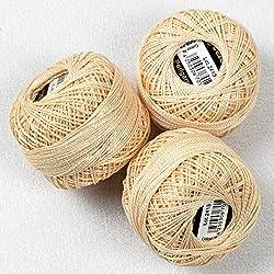 3unidades hilo de Macramé perla - 100% algodón mercerizado,Alta calidad
