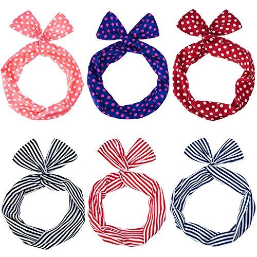 6 Pièces Bandeau Élastique Cravates pour Cheveux pour Femmes Et Filles, Multicolore