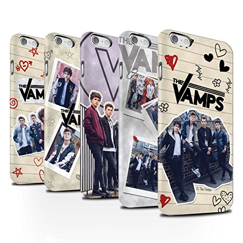 Offiziell The Vamps Hülle / Matte Snap-On Case für Apple iPhone 6S / Pack 5Pcs Muster / The Vamps Doodle Buch Kollektion Pack 5Pcs
